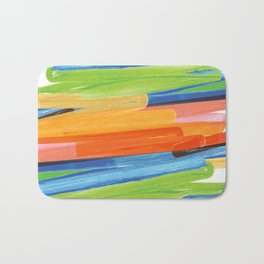 Color yellow red blue green Bath Mat
