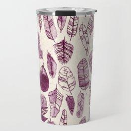 Maroon Feathers Travel Mug