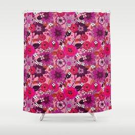 Flower Power pink Shower Curtain