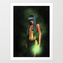 necro girl Art Print