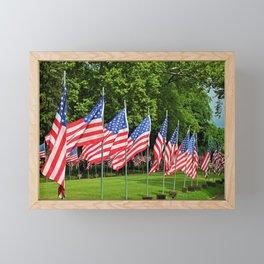 Flags Flying in Memoriam II Framed Mini Art Print