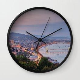 Budapest Cityscape Wall Clock