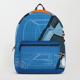 GT40 Le Mans 1969 Blueprint Backpack