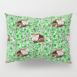 Red panda's in tree's Pillow Sham