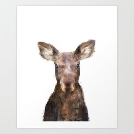 Little Moose Art Print