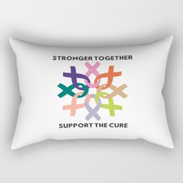 Stronger Together Support The Cure Rectangular Pillow