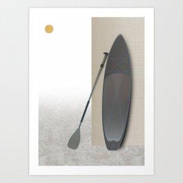 Surf Paddle Board Art Print