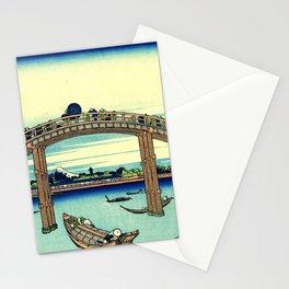 Katsushika Hokusai - 36 Views of Mount Fuji (1832) - 4: Under Mannen Bridge at Fukagawa Stationery Cards