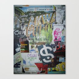 French Street Collage Canvas Print