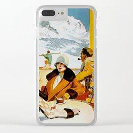 Vintage Wengen Switzerland Travel Clear iPhone Case