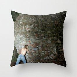 Sisyphus Stone Throw Pillow
