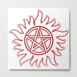 Anti Possession Sigil Red Glow Transp Metal Print