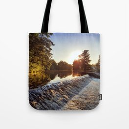 River weir Tote Bag
