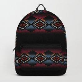 aztec in black number 5 Backpack