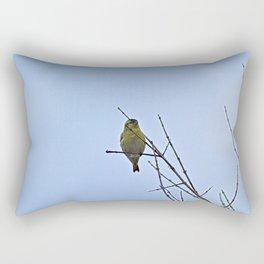 Little Yellow Bird Tree Bare Branches Rectangular Pillow