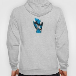 Scottish Flag on a Raised Clenched Fist Hoody