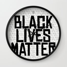 Black Lives Matters Wall Clock
