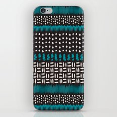 Dots, spots and zigzags pattern iPhone & iPod Skin