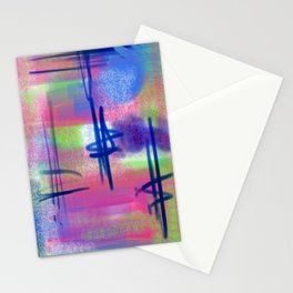 Blue Scribble Background Stationery Cards