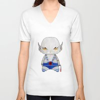 thundercats V-neck T-shirts featuring A Boy - Panthro (Thundercats) by Christophe Chiozzi