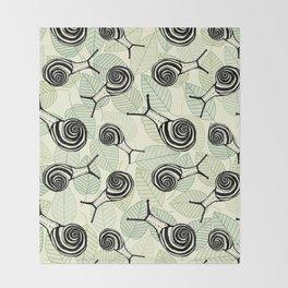 Snails Throw Blanket