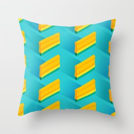 Squeegee Pattern (Blue) Throw Pillow