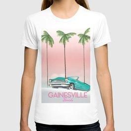 Gainesville Florida retro travel poster. T-shirt
