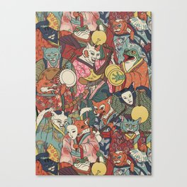 Night parade Canvas Print