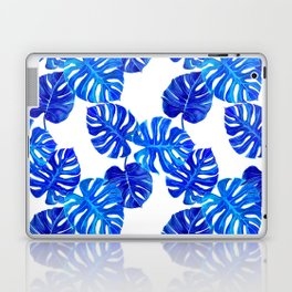 Blue Indigo Palm Leaf Laptop & iPad Skin
