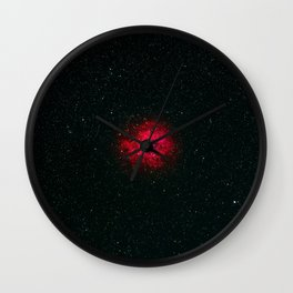 Red Galaxy (Color) Wall Clock