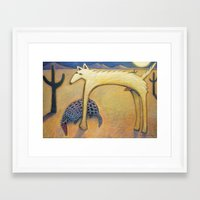 coyote Framed Art Prints featuring Coyote by Bryan Dechter