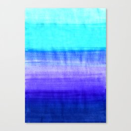 Ocean Horizon - cobalt blue, purple & mint watercolor abstract Canvas Print