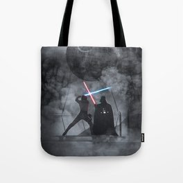 Luke fighting against his father. Tote Bag