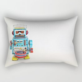 Tin Robot Drummer Rectangular Pillow