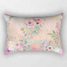Botanical Fragrances in Blush Cloud Rectangular Pillow