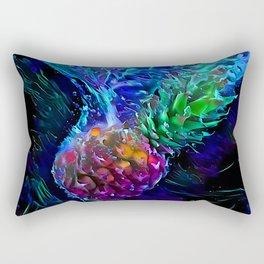 Pineapple: Splash Into Blacklight Rectangular Pillow