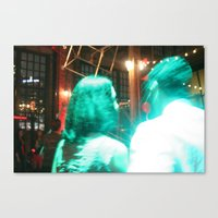 holographic Canvas Prints featuring Holographic Love by heidelights