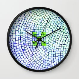artisan 22.06.16 in lime & shades of blue Wall Clock