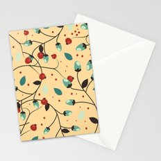 Vintage Flowers and berries pattern. Stationery Cards