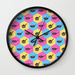 Hex Pans Wall Clock
