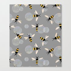 Bubble Bees Canvas Print