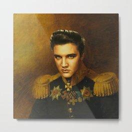 Elvis Presley - replaceface Metal Print