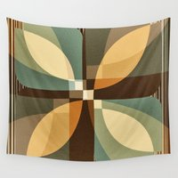 clover Wall Tapestries featuring clover by Julia Tomova