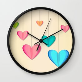 Hangin Hearts Wall Clock