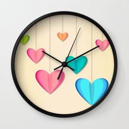 Hangin Hearts Wall Clock