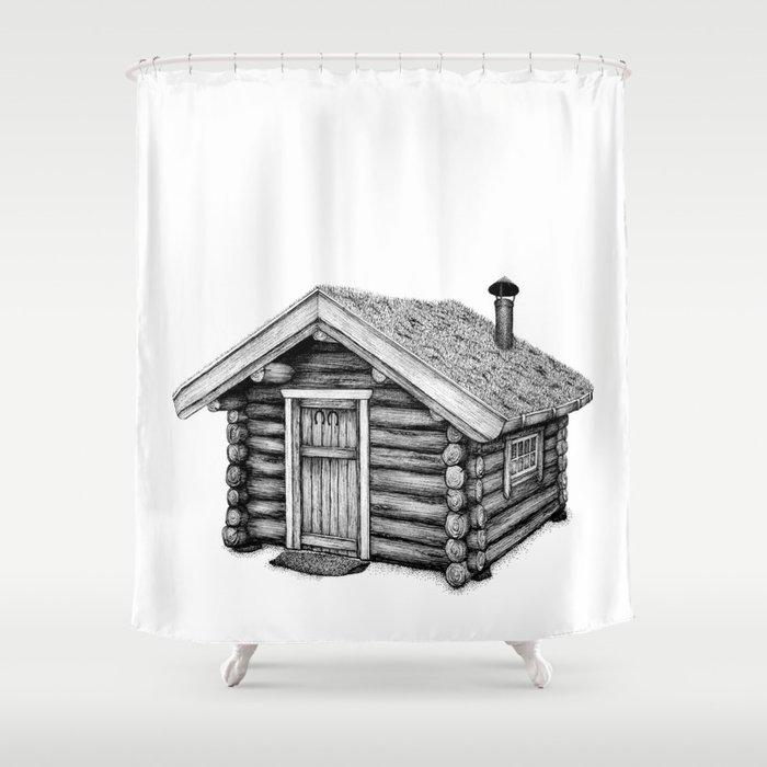 Little Log Cabin Shower Curtain