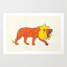 Fashion Animals, Spring 2014 Collection: Tacheté Lion Art Print