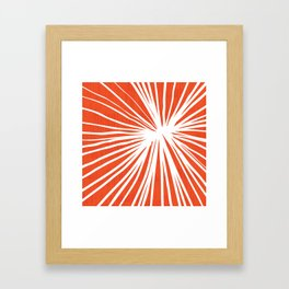 Dandelions in Red by Friztin Framed Art Print