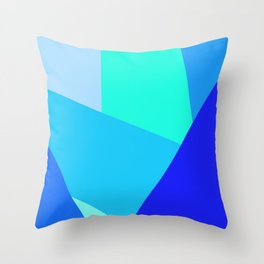 Blue Geometric Shapes Throw Pillow