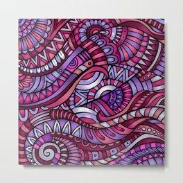 Boho Carnivale Pattern Metal Print